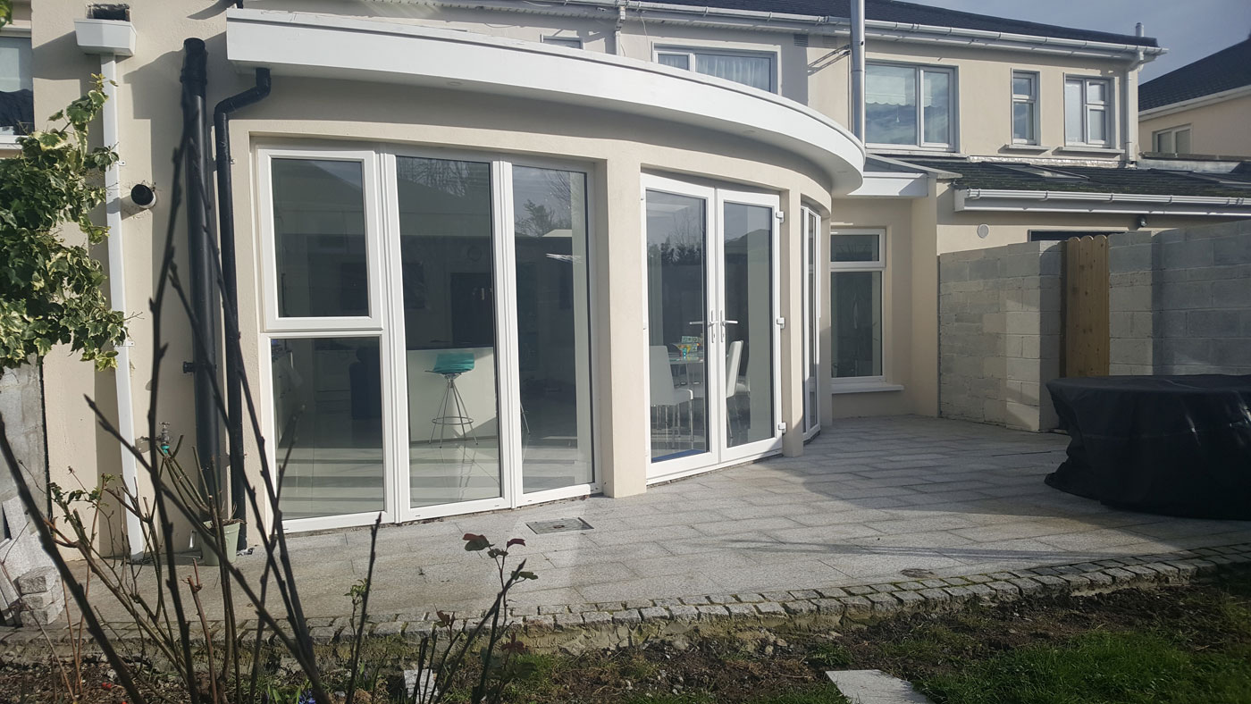Curved extension in Malahide