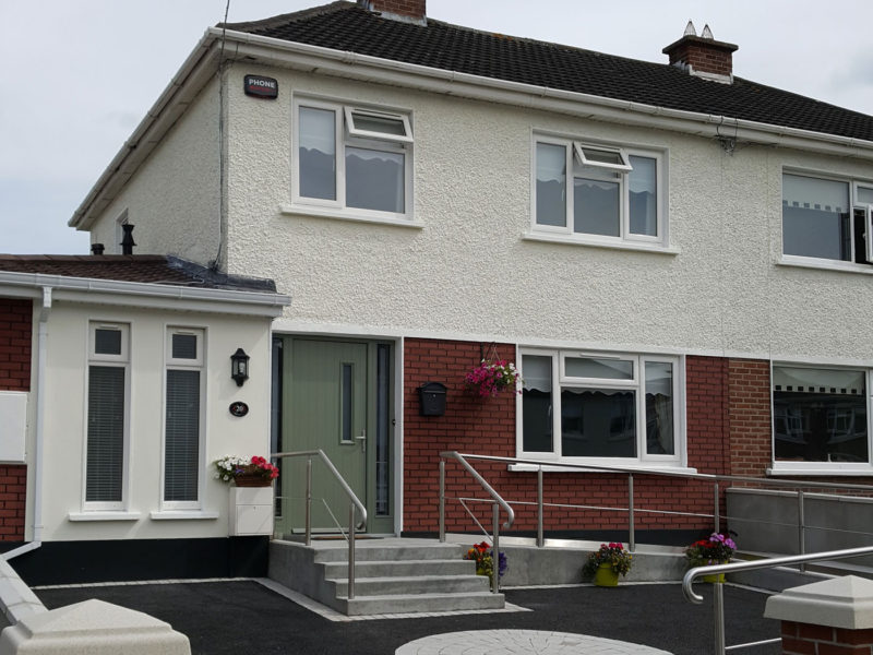 Garage conversion and level access in Portmarnock
